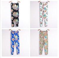 Wholesale 2014 new women thin Ladies floral print Leggins pencil nine pants colorful Leggings autumn winter warm