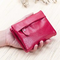 ans photo - 2016 Spring New ladies genuine cow leather short small mini wallet women slim purse clutch bag ANS PL