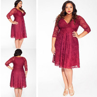 full figure dresses - Plus Size Evening Dresses For Full Figure Womens Formal Special Occasion Wear Hot Sale Cheap Long Sleeves Lace Party Vestidos De Fiesta