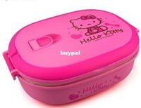 """Cheap WHOLESALE -900 ml """"Hello Kitty """"Stainless steel Lunch Box Food Container For Kids 4 VERSON Cartonsccc1"""