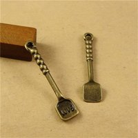 antique spoons lot - pieces MM antique bronze plated vintage style metal alloy spoon pendant charms diy jewelry hm1057