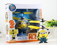 Wholesale 2015New Minion Helicopter Plane Kids Toy Gift Despicable_ME2 Free ship