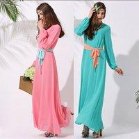 Wholesale Maxi Dress Muslim Womenswear Abaya Islamic long dress Embroidered Pakistani