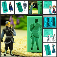 Wholesale Frozen Series Elsa Anna Olaf D Silicone Soap Mold Cake Baking Fondant Candy Molds Pudding Biscuit Mould Christmas Cake Decorating Tools