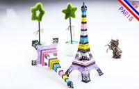Wholesale New Household Metal Crafts CM Rainbow color Paris Eiffel Tower model Home Decors Souvenir for Wedding centerpieces home table centerpieces