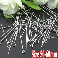 Wholesale 500G PIECE Rhodium Silver Plate mm mm mm long quot quot shaped Head Pins Findings and Settings