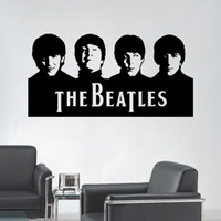 Wholesale Beatles Wall Art Decals Vinyl Wall Stickers Home Decor X57CM