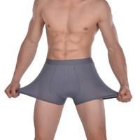 bamboo boxers - Hot new fashion Bamboo fiber Men boxer pants Boxer Shorts Briefs Men underwear Men Underpants