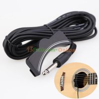 Wholesale Classical Acoustic Guitar Amplifier Soundhole Pickup mm Jack M Cable Black