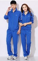 Wholesale unisex lovers casual tracksuit classic outdoor jogging set runing outfits in autumn winnter sizes colors