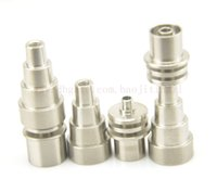 Wholesale 2015 Newest mm male female adjustable Grade Titanium Domeless E Nail Nail for mm Enail Coil or mm Enail Coil