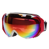 Wholesale 2015 cool CRG105 Windproof and Anti fog Dual Layer Lens Skiing Reflective Goggles blinkers protective spectacles Red