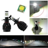 Wholesale H4 Car Cree LED Headlights LM K Vehicle Headlight Bulbs Fog Lamp H L Bulb Replace HID Pair W