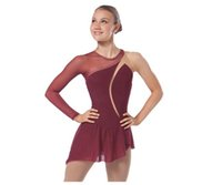 Wholesale Women Ice Figure Skating Dresses With Spandex Beautiful New Brand Figure Skating Competition Dress HB2571
