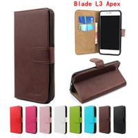 apex pouch - Luxury crystal grain wallet case for ZTE Blade L3 Apex ZTE blade V6 leather case card slots for ZTE Blade V6 L3 Apex