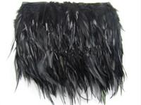 Wholesale Black Feather Fabrics Edge Dress Accessories Real Feathers Party Decoration Supplies Clothing Accessories DIY In Stock Cheap