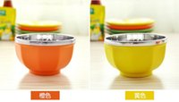 Wholesale Insulation Bowl Child Tableware Rice Bowl children Bowl Stainless steel Resistance to High Temperature and not easily broken