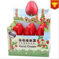 Wholesale 12pcs set new gift Strawberry Tomato Mini Whitening Cream For Hands Moisturizing Antifreeze cute Skin Defender Hand Cream