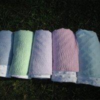 Wholesale Blanks seersucker new baby blanket baby sleepers minky swaddle velvet blanket for infant baby kids childrenDOM103166