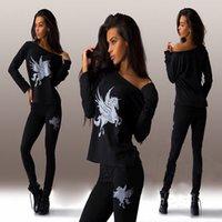 animal t shirts - new t shirts for women fashion Pegasus printing t shirt womens two Piece suits t shirt skinny pants women clothing