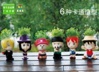 Wholesale 2015 Novelty Home Decor One Piece Plant Pot Piece Set Creative Landscape plants Nice Gigt For Kid Colleague Friend