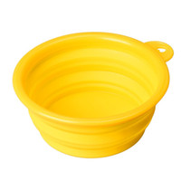 Wholesale Dog Cat Pet Silicone Collapsible Travel Feeding Bowl Water Dish Feeder