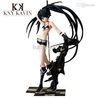 Cheap Wholesale-PVC Action Figure Black Rock Shooter Japanese Sex Hot Toys Doll For Children Beauty Figure Baby Toys High Quality 26cm HT18680