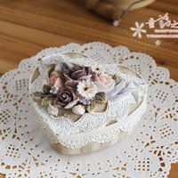 Wholesale Continental complex classical hand painted jewelry boxes wedding gifts wedding resin jewelry boxes exported to South Korea Japan
