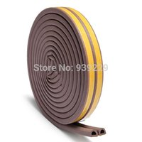 Wholesale 5M D Type Self Adhesive Weatherbar for Window Draught Foam Seal Strip Rubber Roll Soundproofing Collision Avoidance Rubber Seal