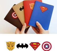 accounting supplies - Superhero notepad Notes superman batman Captain America transformers students School Supplies prize kids heros avengers theme party gift