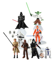 figurines - Star Wars design The Force Awakens Figurine toy Black Knight Darth Vader Stormtrooper PVC Action Figures CM Boy Toys DHL Free A