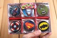 Wholesale Mixed Five different styles Captain America Spider Man Hulk iron Man Batman Children Stationery Round Eraser