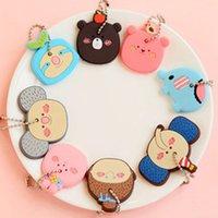 Wholesale Trendy Korea Cute Soft Key Top Head Cover Chain Cap Keyring Phone Strap Minion