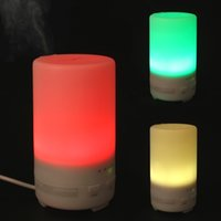 Wholesale 50ML Mini USB Car Essential Oil Purifier Diffuser Ultrasonic Air Humidifier with Timer Settings Colors Changing Light HOA_348