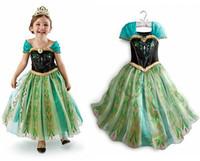 Cheap Retail New Design Baby Girls Dress Frozen Elsa Anna Princess Dress Kids Tutu Fashion Children Princess Dresses party costume.