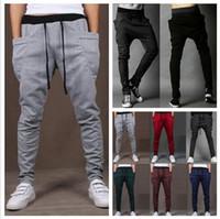 drop crotch pants - Baggy Harem Pants New Style Fashion Casual Skinny Sweatpants Sport Pants Trousers Drop Crotch Jogging Pants Men Joggers Sarouel P34