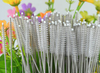 Wholesale 500pcs stainless steel wire cleaning brush straws cleaning cleaning brush bottles brush