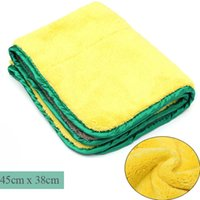 Wholesale New cmx38cm Super Thick Plush Microfiber Car Cleaning Cloths Car Care Microfibre Wax Polishing Detailing Towels order lt no track