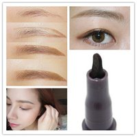 Wholesale Korean Makeup Speed Painting Eyebrow Pencil Liquid Eyebrow Pen Strong Waterproof Long Lasting FOR DAYS Never Blooming S0042