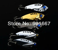 Wholesale 2015 New Design Fishing Tackle color Spoon Lures Gold Black Silvery pc g Metal Fishing Lure