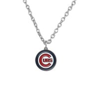 alphabet posters - 20pcs Poster Alphabet Chicago CUBS Sports Team Logo Rhodium Plated Charm Link Chain Bodybuilding Fitness Necklace A122278
