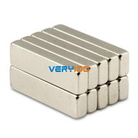 Wholesale 10pcs Strong Block Bar Magnets x x mm Cuboid Rare Earth Neodymium N50 order lt no track