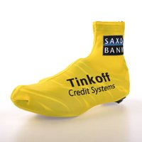 Wholesale Tinkoff saxo bank YELLOW Shoes Cover Black Size M L XL Ultra breathable Cycling Accessaries Nylon Tight Shoes Wear
