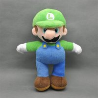 mario plush - New Super Mario Bros Stand LUIGI Plush Doll Soft Stuffed Fashion Toy quot