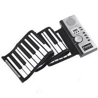 Wholesale Roll Up MIDI Soft Key Synthesizer Electronic Piano Keyboard Mic Jecksion