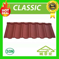 Wholesale 2016 hot sale durable leakproof stone coated metal roof tile