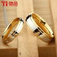 Wholesale ring hand rings Super Deal Ring Size Titanium Woman Man s wedding Rings Couple Rings can engraving price is for