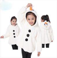 best dressed baby boy - best selling new baby boys girls Frozen Coat Children Cartoon Hoodies Sweatshirts kids Olaf Dress jackets winter warm outerwear