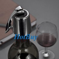 Wholesale Stainless Steel Reusable Vacuum Sealed Red Wine Bottle Stopper Cap Plug