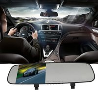 Wholesale 140 Degree P Ultra thin Rear view Mirror Dash Car Camera Video Recorder Night Vision Motion Detection car dvr